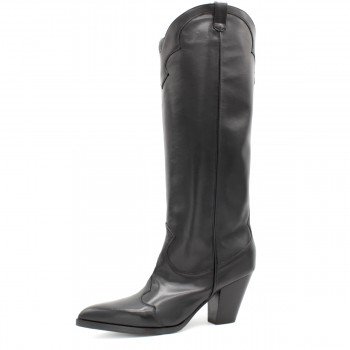 "BLACK CALF BOOT ""COWBOY"""