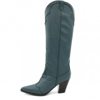 "GREEN TEJUS BOOT ""COWBOY"""
