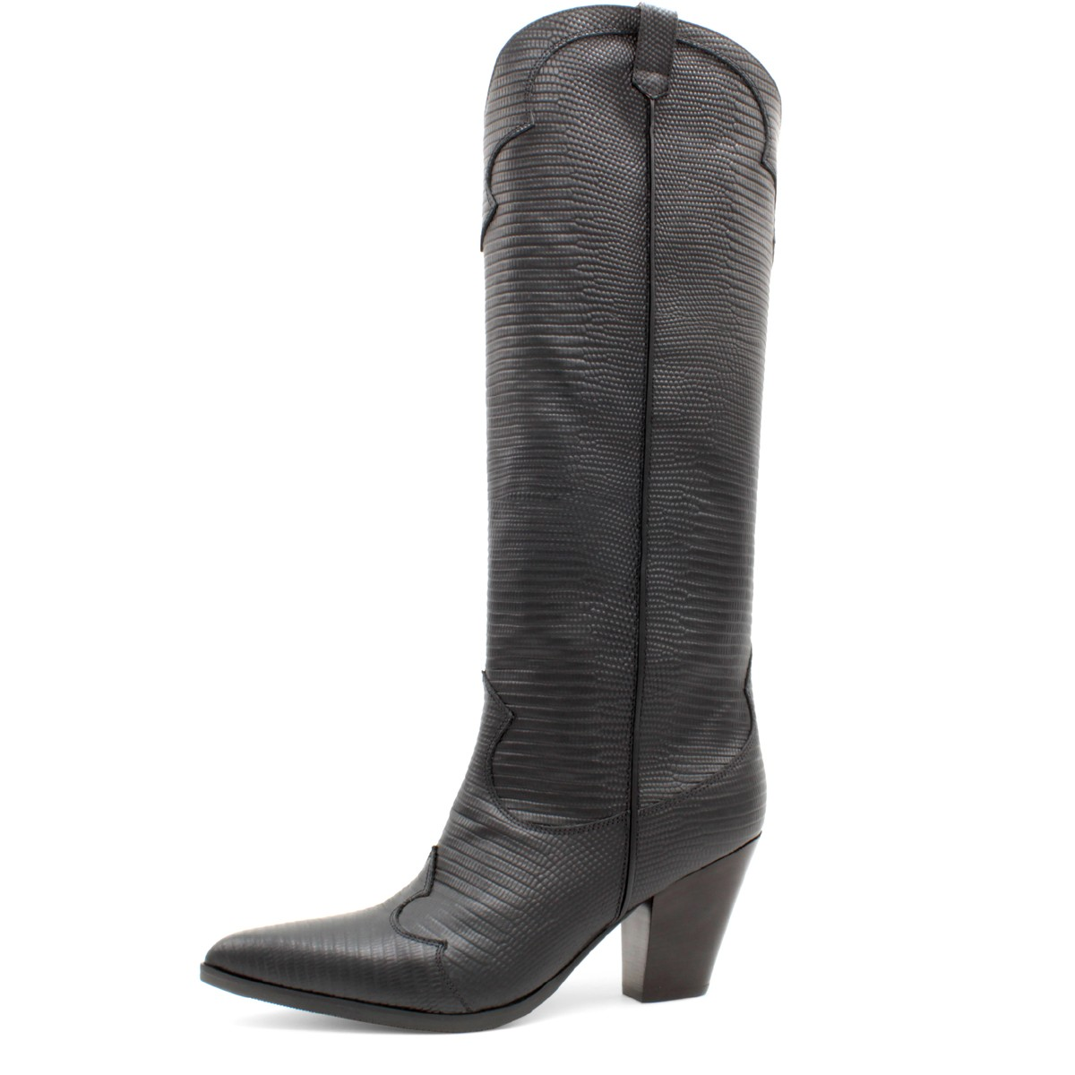 "BLACK TEJUS BOOT ""COWBOY"""