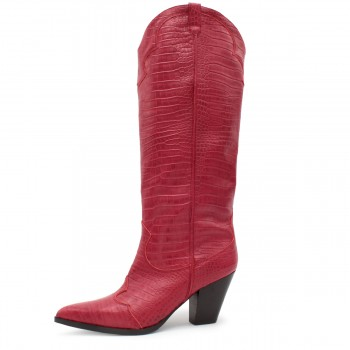 "RED CROC BOOT ""COWBOY"""