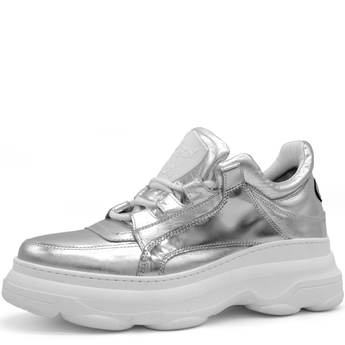 "SILVER AND WHITE SNEAKERS ""BALI"""