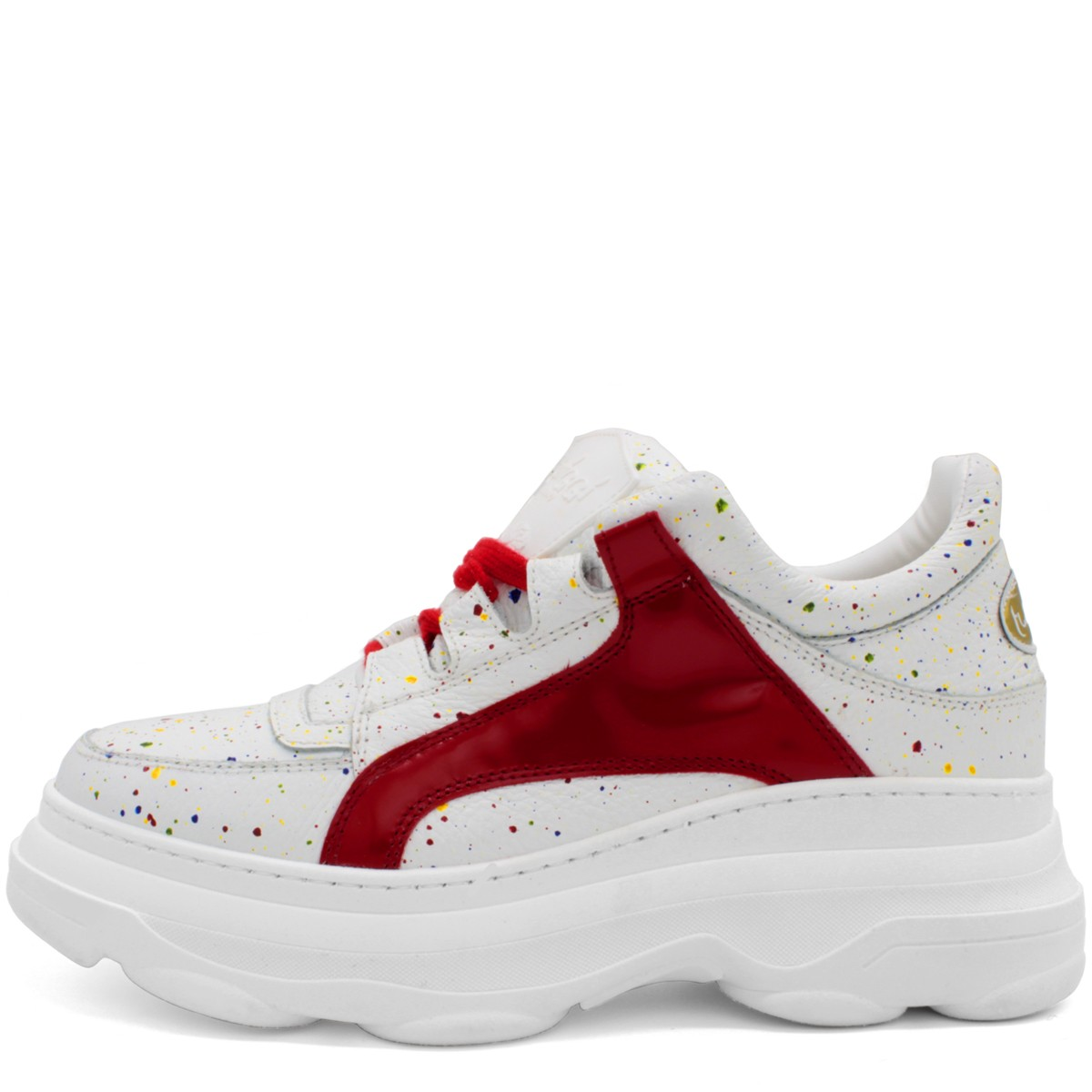 "WHITE AND RED SNEAKERS ""BALI"""