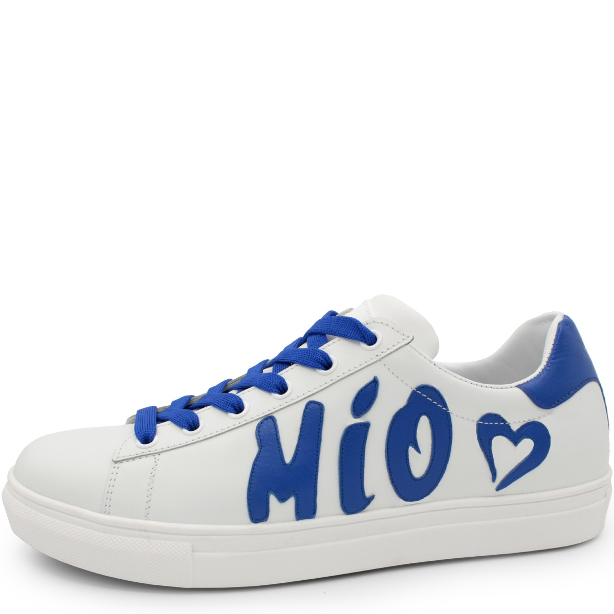 "WHITE & BLUE SNEAKERS ""AMORE MIO"""