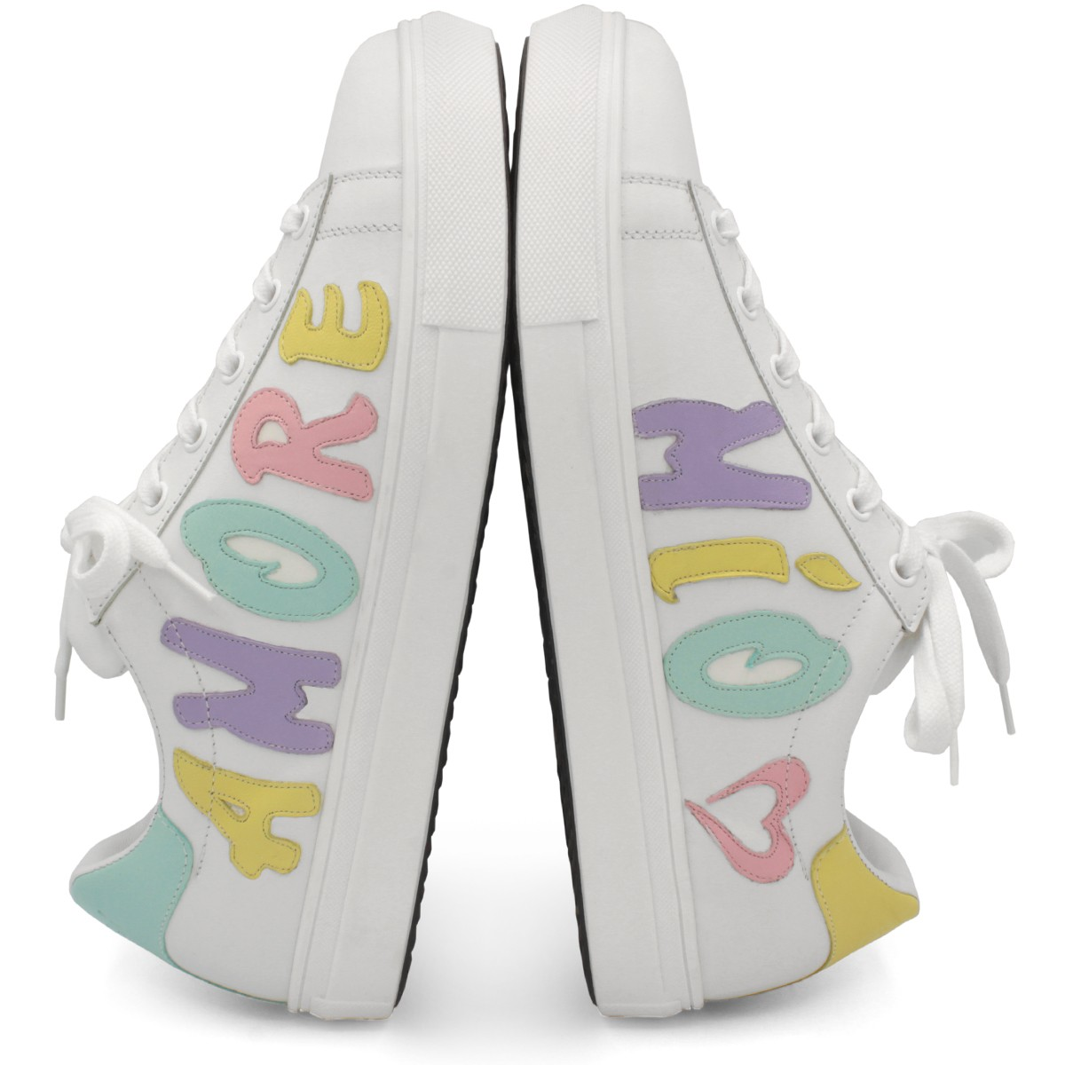"MULTICOLOR SNEAKERS ""AMORE MIO"""