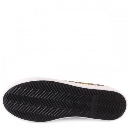 Туфли с открытым мысом красного цвета на шпильке и платформе