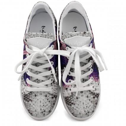 Туфли с открытым мысом бежевого цвета на шпильке и платформе