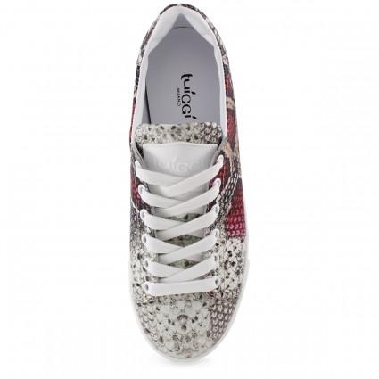 Туфли с открытым мысом  розового цвета на шпильке и платформе