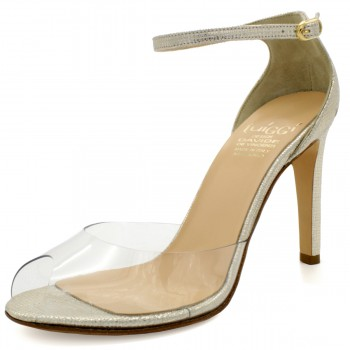 100 STILETTO TRANSPARENT SANDALS