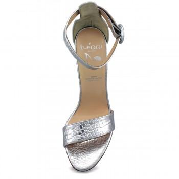 Летние ботинки белого цвета с цветочным принтом кожаные
