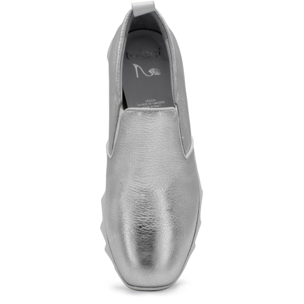 SILVER SLIP-ON SNEAKERS