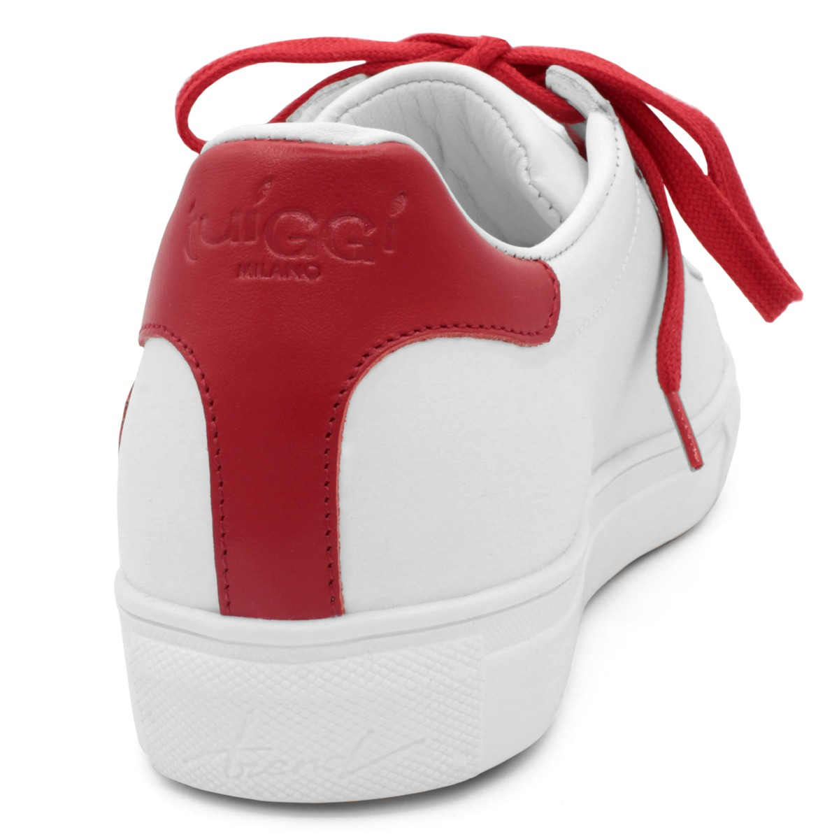 "SNEAKERS ""AMORE MIO"" BIANCO-ROSSO"