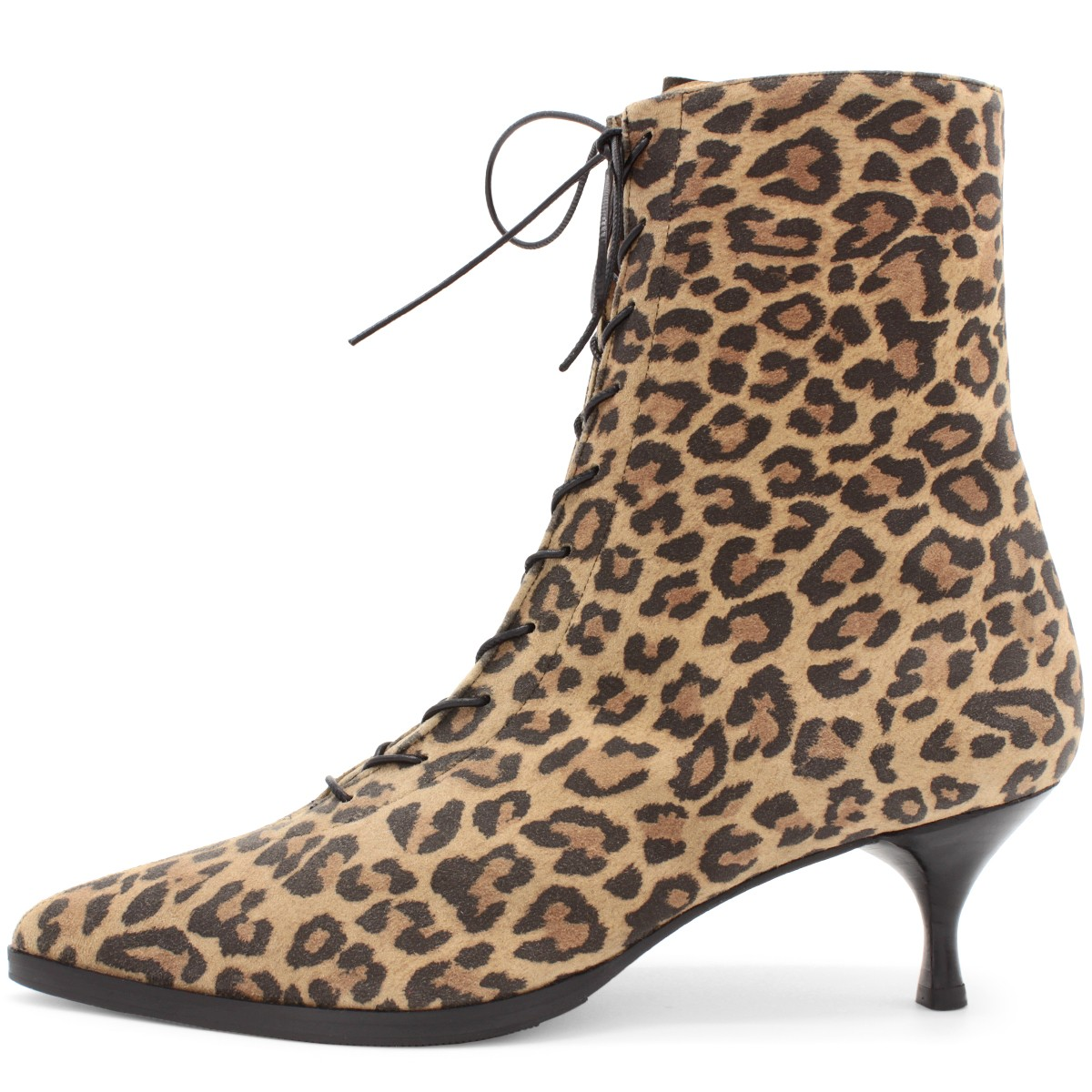LEO SUEDE LACE-UP ANKLE BOOTS