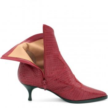 Модные кожаные кроссовки ботинки цвет nude