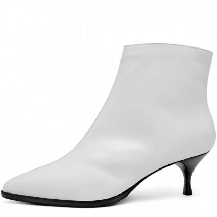 Серые кожаные женские кроссовки без шнуровки