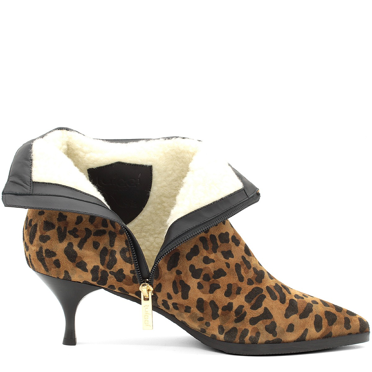 LEO SUEDE STYLISH WOOL FUR LINED ANKLE BOOTS