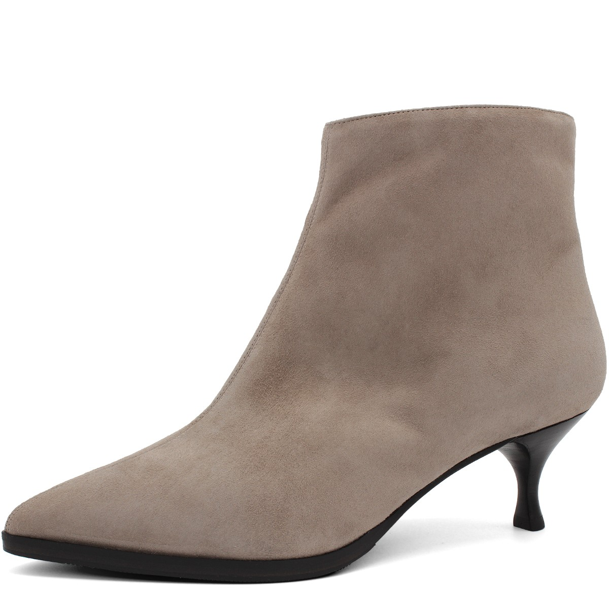 BEIGE SUEDE STYLISH WOOL FUR LINED ANKLE BOOTS