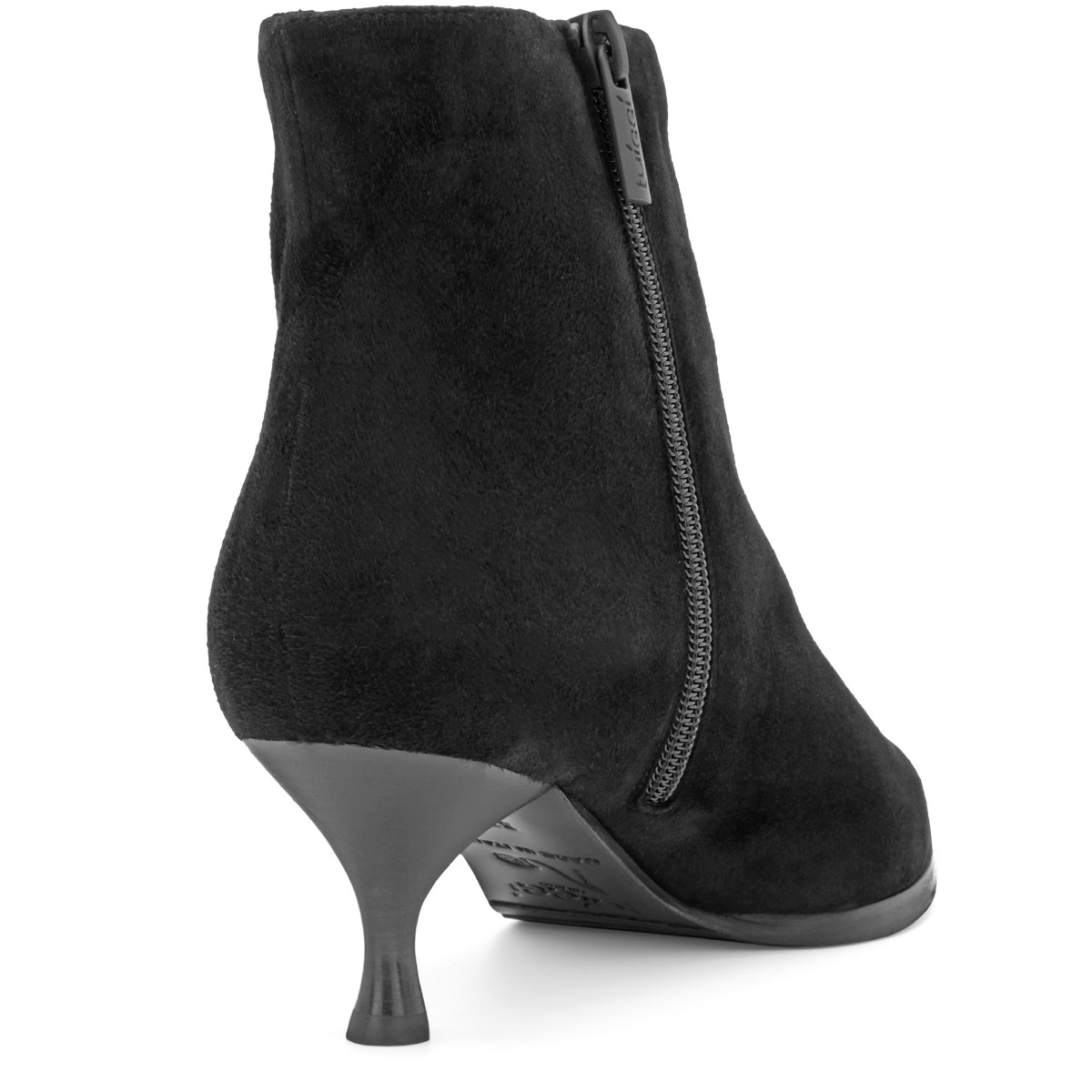 BLACK SUEDE STYLISH WOOL FUR LINED ANKLE BOOTS