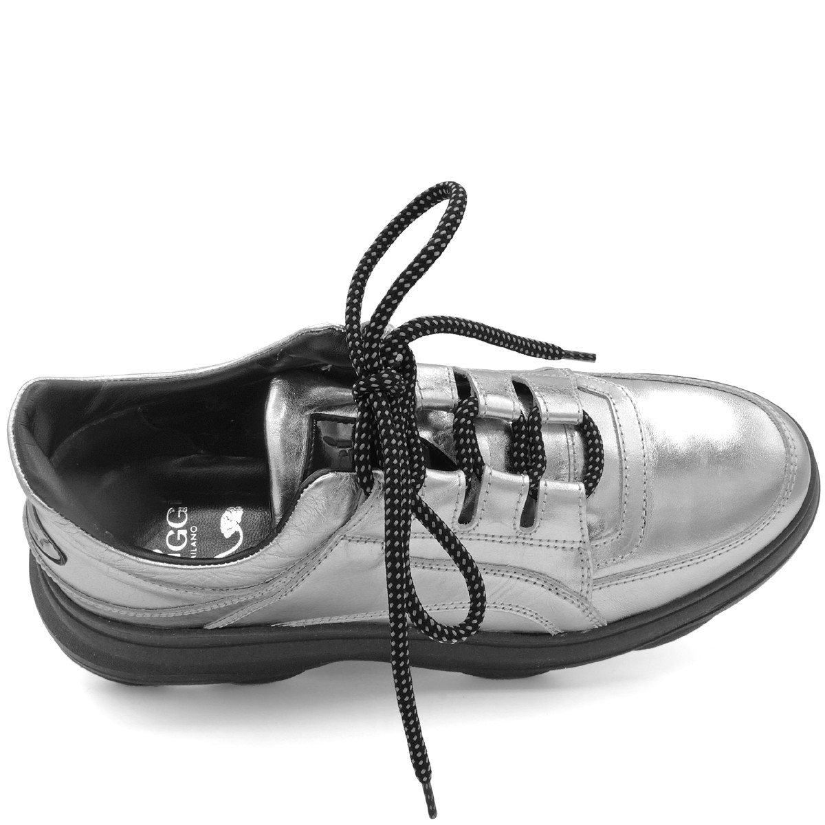 "SILVER AND BLACK SNEAKERS ""BALI"""